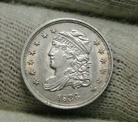 1836 CAPPED BUST HALF DIME 5C CENTS   FANTASTIC COIN   8677