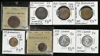 8 CANADA & NFLD COINS & TOKENS  CAT VALUE  $475 USD  EXCLNT