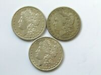 1879-S, 1891-S AND 1897-S MORGAN SILVER DOLLARS  COIN'S