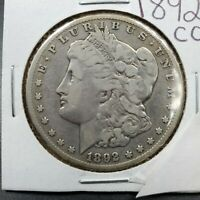1892 CC MORGAN SILVER DOLLAR VARIETY COIN CHOICE VF  FINE CIRCULATED
