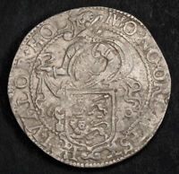 1604 NETHERLANDS WEST FRIESLAND. SILVER LION DAALDER  DOG DOLLAR  COIN. XF