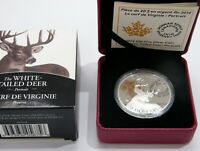 CANADA 2014 1 OZ. WHITE TAILED DEER PORTAIT COLORIZED PROOF