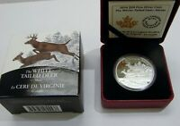 CANADA 2014 1 OZ. WHITE TAILED DEER MATES COLORIZED PROOF $2