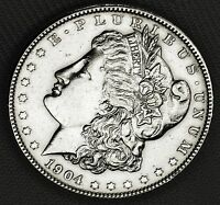 1904-P SILVER DOLLAR.   CHEST FEATHERS.   HIGH GRADE INV.A