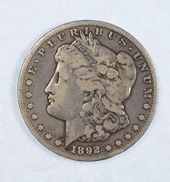 1892-CC MORGAN $ FINE CARSON CITY SILVER DOLLAR