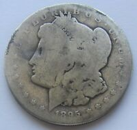 1895-S $1 MORGAN SILVER DOLLAR  KEY DATE SCRATCHED -WE HAVE THE TOUGH DATES