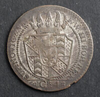 1800 SWITZERLAND NEUCHATEL  CANTON . BILLON 4 KREUZER COIN. VF XF