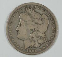 1892-CC MORGAN DOLLAR FINE CARSON CITY SILVER DOLLAR