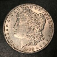 1900 MORGAN SILVER DOLLAR - HIGH QUALITY SCANS I186