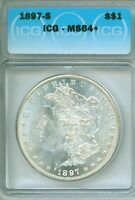REAL QUALITY  GEM ALL THE WAY  1897-S ICG MINT STATE 64 MORGAN DOLLAR - FROSTY WHITE