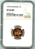 1975 CANADA CENT NGC SP66 RD PENNY  POP ONLY 2