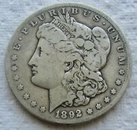 1892-CC $1 MORGAN SILVER DOLLAR CARSON CITY FINE