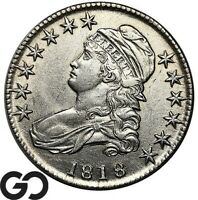 1818 CAPPED BUST HALF DOLLAR CHOICE AU COLLECTOR SILVER 50C