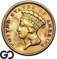 1854 THREE DOLLAR GOLD PIECE $3 GOLD INDIAN PRINCESS DETAILS
