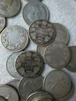 NICE ASSORTED LOT OF 80 CANADIAN SILVER QUARTERS   1867 196