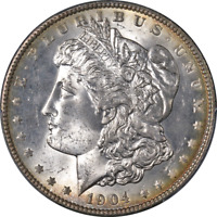 1904-P MORGAN SILVER DOLLAR PCGS MINT STATE 64 GREAT EYE APPEAL STRONG STRIKE