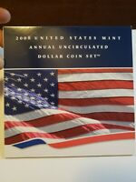 2008 US MINT ANNUAL UNCIRCULATED DOLLAR COIN SET W/1 OZ SILV