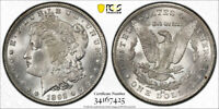 1892 CC $1 MORGAN DOLLAR PCGS MINT STATE 63 UNCIRCULATED CARSON CITY BLAST WHITE LUST