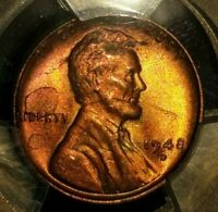 1948-D - LINCOLN WHEAT CENT -PCGS MINT STATE 64 RB REVERSE TONING 5097