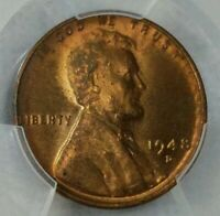 1948-D - LINCOLN WHEAT CENT -PCGS MINT STATE 63 RB REVERSE TONING 5095