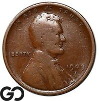 1909 S VDB LINCOLN CENT WHEAT PENNY COLLECTOR FAVORITE KEY D