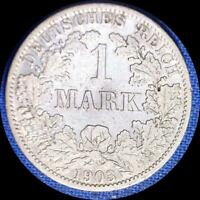 GERMANY 1903 A 1 MARK OLD SILVER WORLD COIN