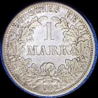 GERMANY 1902 F 1 MARK OLD SILVER WORLD COIN