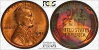 1952 D LINCOLN WHEAT CENT PENNY 1C PCGS CERTIFIED MINT STATE 64 RB RED BROWN 483