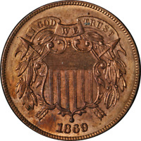 1869 TWO  2  CENT PIECE CHOICE BU DETAILS NICE EYE APPEAL STRONG STRIKE