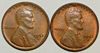 1952-D-S LINCOLN WHEAT EARS PENNIES, SET OF 2 COINS C8