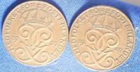 THIRTY SWEDEN 2 ORE OLD WORLD COINS 1913 1950 NEARLY ALL DIFFERENT