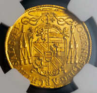 Click now to see the BUY IT NOW Price! 1705 SALZBURG JOHANN ERNST VON THUN. GOLD DUCAT COIN. NONE HIGHER  NGC MS 62