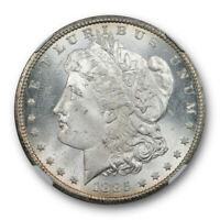1885 CC $1 MORGAN DOLLAR NGC MINT STATE 64 UNCIRCULATED CARSON CITY MINT LUSTROUS CER