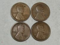4 BETTER DATE LINCOLN WHEAT PENNIES: 1910-S, 1912-D, 1913-D, 1921-S.  17