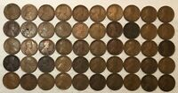 ROLL OF 50 1918 LINCOLN WHEAT CENTS, GOOD TO FINE, MOST GOOD. MG3