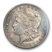 1898 S $1 MORGAN DOLLAR PCGS AU 58 ABOUT UNCIRCULATED EXCEPTIONAL STRIKE