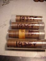 200 LINCOLN WHEAT PENNIES ALL 1935 P 4 FULL ROLLS