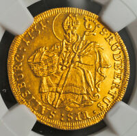 Click now to see the BUY IT NOW Price! 1731 SALZBURG LEOPOLD ANTON FREIHERR VON FIRMIAN. GOLD DUCAT COIN. NGC MS 62