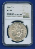 1898 O NGC MINT STATE 66 MORGAN SILVER DOLLAR $1 US MINT 1898-O MINT STATE 66 SUPER PQ COIN