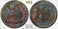 1876 PCGS UNC DETAIL QUESTIONABLE COLOR TRADE DOLLAR WITH A