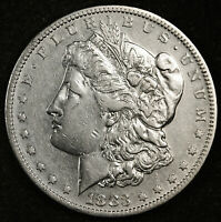 1883-S MORGAN SILVER DOLLAR.  CHEST FEATHERS.  154390