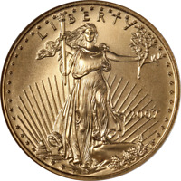 2007 GOLD AMERICAN EAGLE $25 NGC MS70