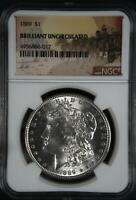 1889 P NGC MINT STATE 60 BRILLIANT UNCIRCULATED MORGAN SILVER DOLLAR