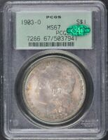 1903-O $1 MORGAN DOLLAR PCGS MINT STATE 67 CAC OGH
