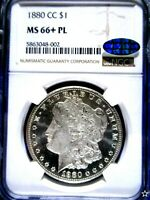 1880 CC MORGAN DOLLAR POP 1 MINT STATE 66PL VAM-6 8/7 LOW 7 STRONG NONE HIGHER
