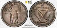 1916 25C STANDING LIBERTY QUARTER PCGS VG 10 GOOD TO FINE KEY DATE STRONG