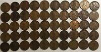 ROLL OF 50 1921 G-VF LINCOLN WHEAT CENTS. OX2