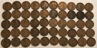 ROLL OF 50 1921 G-VF LINCOLN WHEAT CENTS. OX3