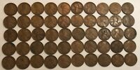 ROLL OF 50 1921 G-VF LINCOLN WHEAT CENTS. OX4