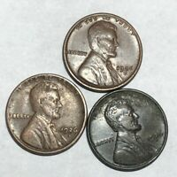 LOT OF THREE FINE 1926-D LINCOLN WHEAT CENTS. AX1